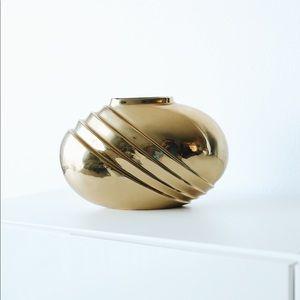 Anthropologie Brass Vase